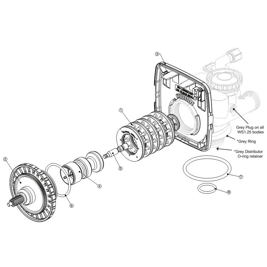 Схема клапана Clack